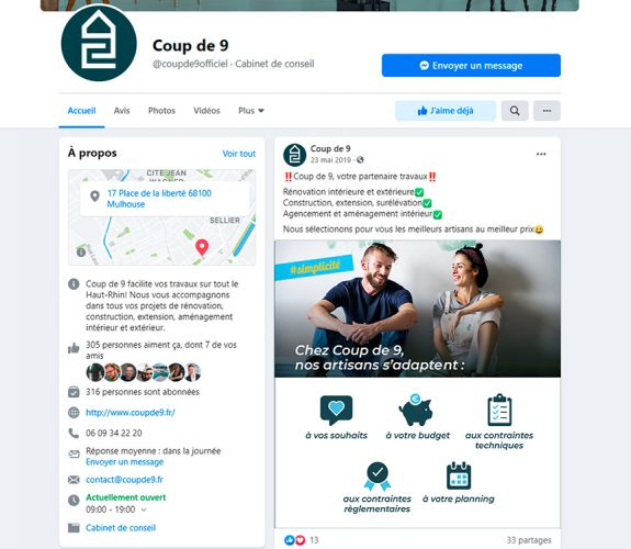 COUPDE9 post facebook
