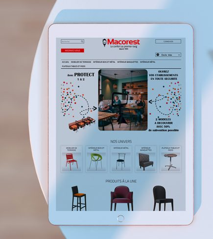 Macorest - Site internet