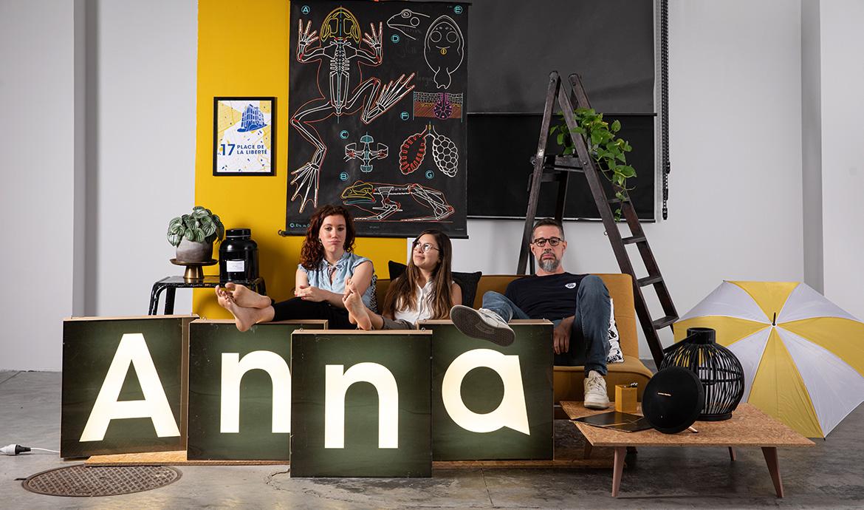 L'équipe de l'agence Anna